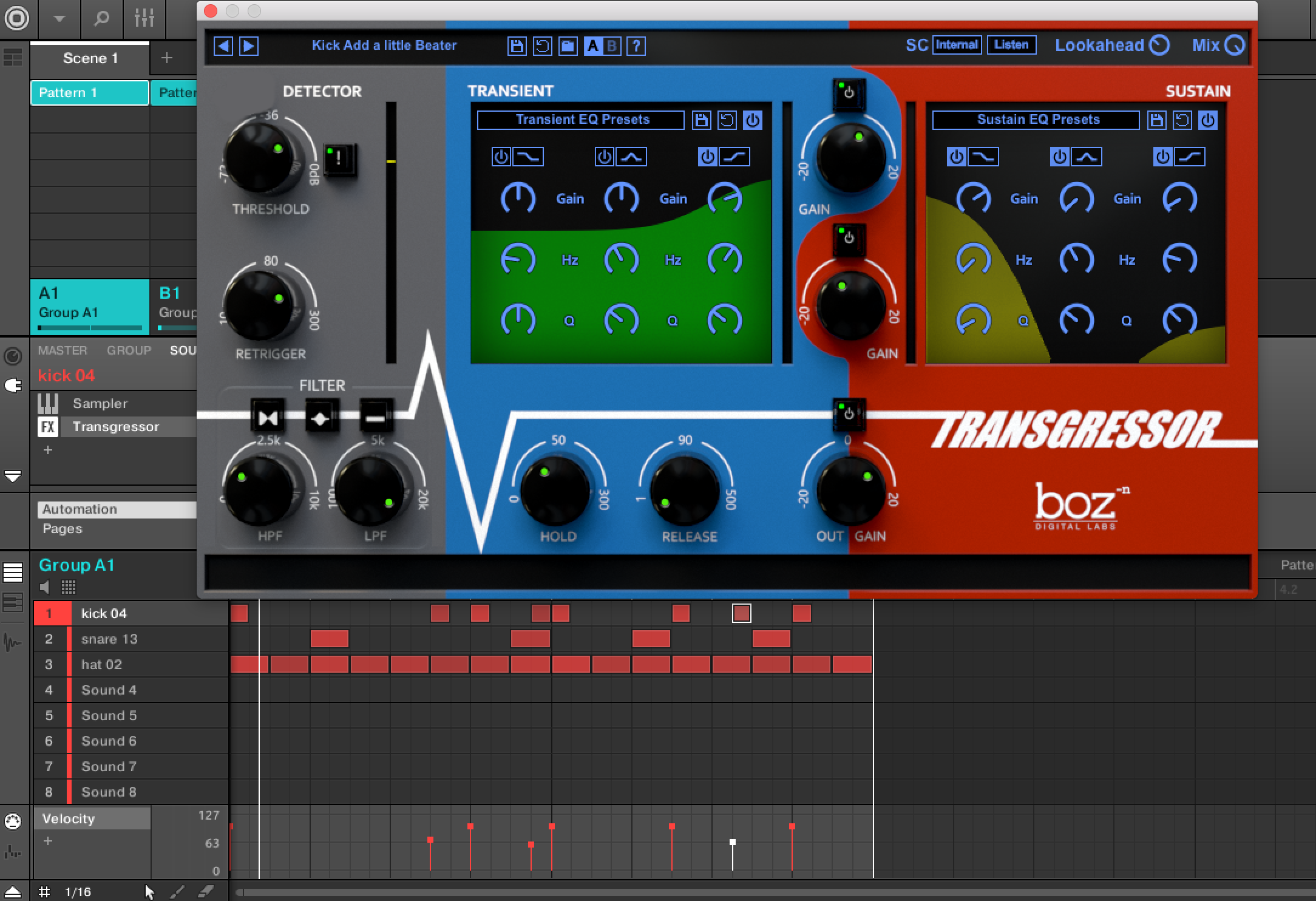 Boz Digital Labs Transgressor Review 3 Band Equalizer Control The Sustain Section Houses Same Controls And Eq As Aforementioned Transient